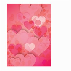 Hearts Pink Background Large Garden Flag (two Sides)