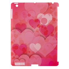 Hearts Pink Background Apple iPad 3/4 Hardshell Case (Compatible with Smart Cover)
