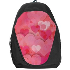 Hearts Pink Background Backpack Bag