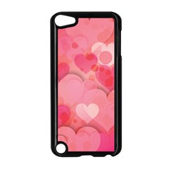 Hearts Pink Background Apple Ipod Touch 5 Case (black)