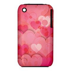 Hearts Pink Background Iphone 3s/3gs