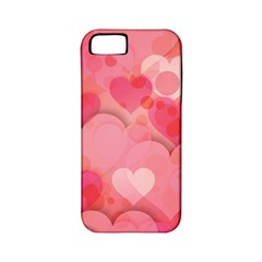 Hearts Pink Background Apple Iphone 5 Classic Hardshell Case (pc+silicone)