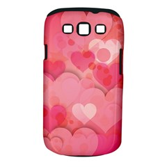 Hearts Pink Background Samsung Galaxy S Iii Classic Hardshell Case (pc+silicone)