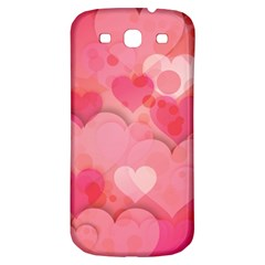 Hearts Pink Background Samsung Galaxy S3 S Iii Classic Hardshell Back Case
