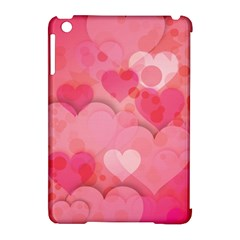 Hearts Pink Background Apple Ipad Mini Hardshell Case (compatible With Smart Cover)