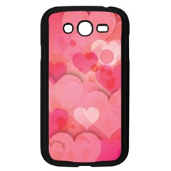 Hearts Pink Background Samsung Galaxy Grand Duos I9082 Case (black)