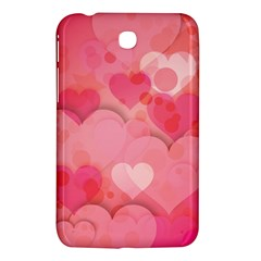 Hearts Pink Background Samsung Galaxy Tab 3 (7 ) P3200 Hardshell Case