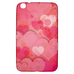 Hearts Pink Background Samsung Galaxy Tab 3 (8 ) T3100 Hardshell Case
