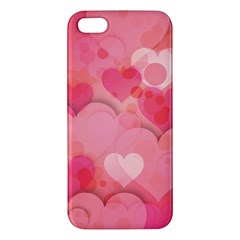Hearts Pink Background Iphone 5s/ Se Premium Hardshell Case