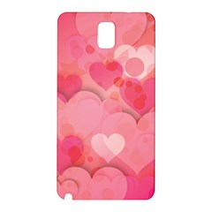 Hearts Pink Background Samsung Galaxy Note 3 N9005 Hardshell Back Case
