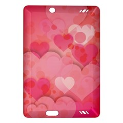 Hearts Pink Background Amazon Kindle Fire Hd (2013) Hardshell Case