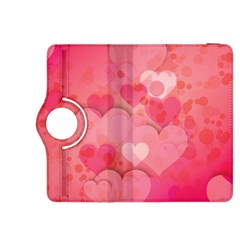 Hearts Pink Background Kindle Fire Hdx 8 9  Flip 360 Case
