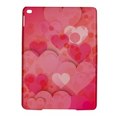 Hearts Pink Background iPad Air 2 Hardshell Cases