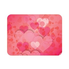 Hearts Pink Background Double Sided Flano Blanket (mini)