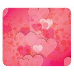 Hearts Pink Background Double Sided Flano Blanket (small)