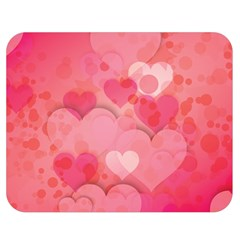 Hearts Pink Background Double Sided Flano Blanket (medium)