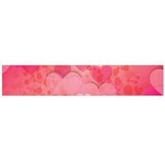 Hearts Pink Background Flano Scarf (large)