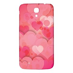Hearts Pink Background Samsung Galaxy Mega I9200 Hardshell Back Case