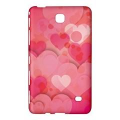 Hearts Pink Background Samsung Galaxy Tab 4 (7 ) Hardshell Case