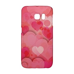 Hearts Pink Background Galaxy S6 Edge