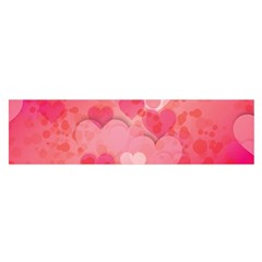 Hearts Pink Background Satin Scarf (oblong)