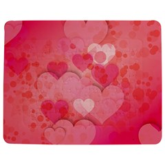 Hearts Pink Background Jigsaw Puzzle Photo Stand (rectangular)