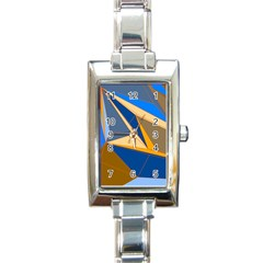 Abstract Background Pattern Rectangle Italian Charm Watch