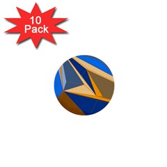 Abstract Background Pattern 1  Mini Buttons (10 Pack)