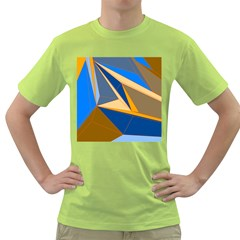 Abstract Background Pattern Green T Shirt