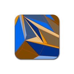 Abstract Background Pattern Rubber Square Coaster (4 Pack)