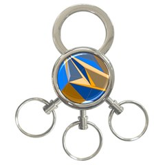 Abstract Background Pattern 3 Ring Key Chains