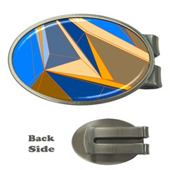 Abstract Background Pattern Money Clips (oval)