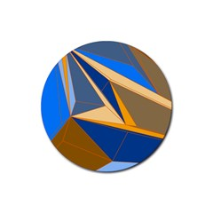 Abstract Background Pattern Rubber Coaster (round)