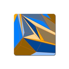 Abstract Background Pattern Square Magnet