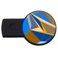 Abstract Background Pattern Usb Flash Drive Round (2 Gb)