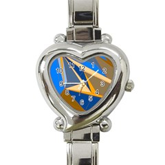 Abstract Background Pattern Heart Italian Charm Watch
