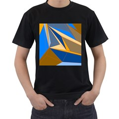 Abstract Background Pattern Men s T Shirt (black) (two Sided)