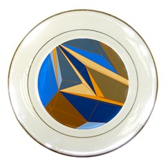 Abstract Background Pattern Porcelain Plates