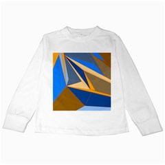 Abstract Background Pattern Kids Long Sleeve T-Shirts