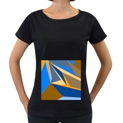 Abstract Background Pattern Women s Loose Fit T Shirt (black)