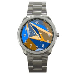 Abstract Background Pattern Sport Metal Watch