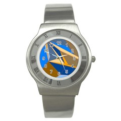 Abstract Background Pattern Stainless Steel Watch