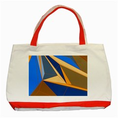 Abstract Background Pattern Classic Tote Bag (red)