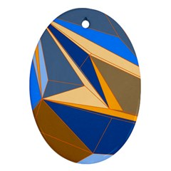 Abstract Background Pattern Oval Ornament (two Sides)