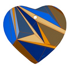 Abstract Background Pattern Heart Ornament (two Sides)