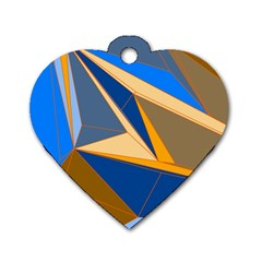 Abstract Background Pattern Dog Tag Heart (two Sides)