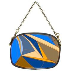 Abstract Background Pattern Chain Purses (one Side)
