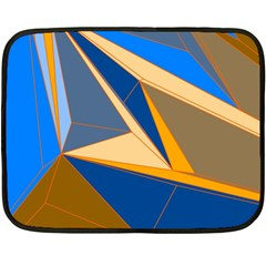 Abstract Background Pattern Double Sided Fleece Blanket (Mini)