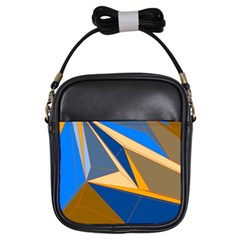 Abstract Background Pattern Girls Sling Bags