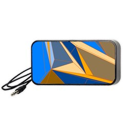Abstract Background Pattern Portable Speaker (black)